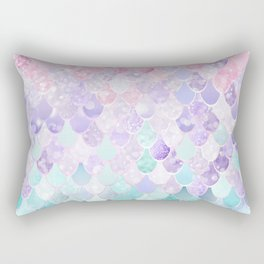 Mermaid Pastel Iridescent Rectangular Pillow