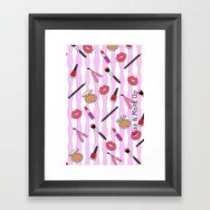 Kiss & Make Up! Framed Art Print