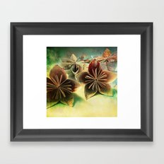 paper flowers Framed Art Print