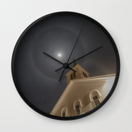 Baptist church moon halo Wall Clock