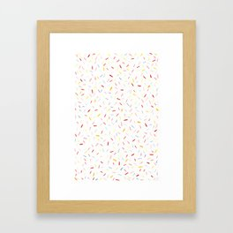 Pastel Sprinkles Framed Art Print