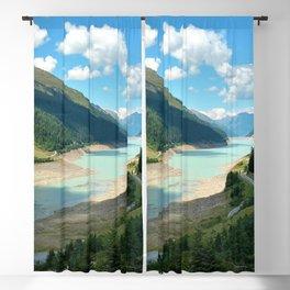 Gepatsch Reservoir Kaunertal Glacier Austria Alps Landscape Blackout Curtain
