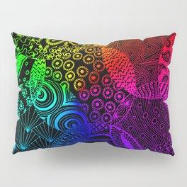 Rainbow Zentangle Pillow Sham