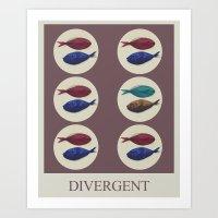 divergent Art Prints featuring Divergent by Galen Valle