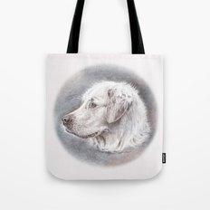 Golden Retriever Dog Drawing Tote Bag