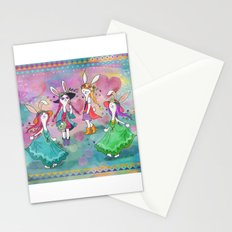 Bohemian Summer Bunnies Stationery Cards