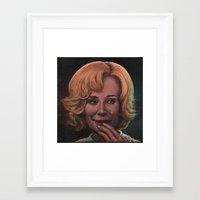 jessica lange Framed Art Prints featuring Jessica Lange by zinakorotkova