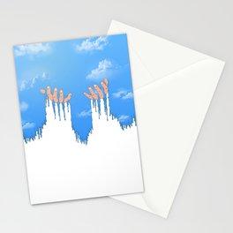Le ciel coule sur mes mains Stationery Cards
