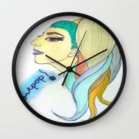 artpop Wall Clocks featuring 'ARTPOP' by Aaron Cumiskey