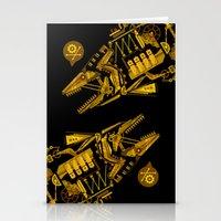 cyberpunk Stationery Cards featuring Cyberpunk fish by Oceloti