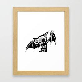 Skeleton bat Framed Art Print