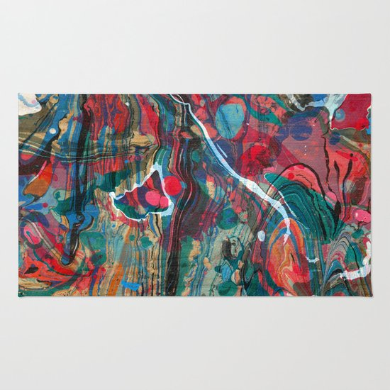 Abstract Painting ; Cosmos Rug