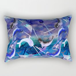 Ocean narwhal  Rectangular Pillow