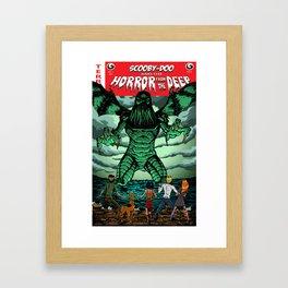 Horror From The Deep! Framed Art Print