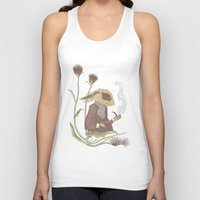 hare Tank Tops featuring Gentleman Hare by Nicola Wallace