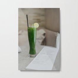 Kale Juice Metal Print