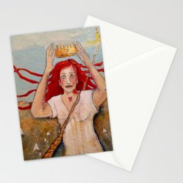 Crowning Herself Stationery Cards