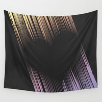 cartoons Wall Tapestries featuring The Heart by Metron