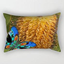 Butterfly on Banksia Rectangular Pillow