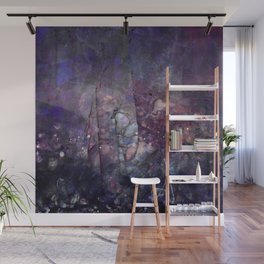 Cracked Purple Geode Texture Wall Mural