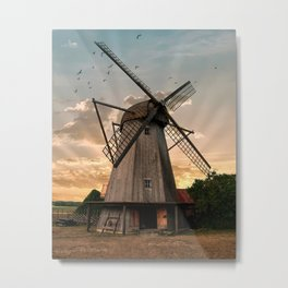 Windmills of Estonia Metal Print
