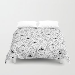 Cryptid Pattern: Ink Lines Duvet Cover