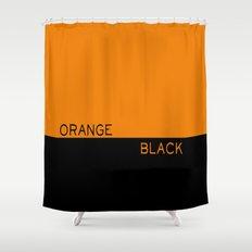 Orange > Black Shower Curtain