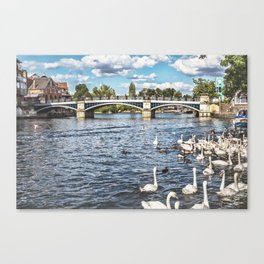 Windsor Town Bridge Canvas Print