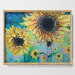 Supermassive Sunflowers Serving Tray