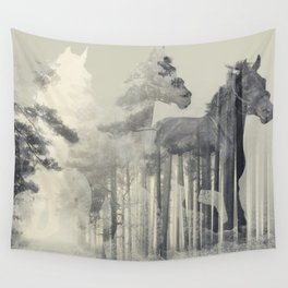 Like a Horse in the woods Wall Tapestry