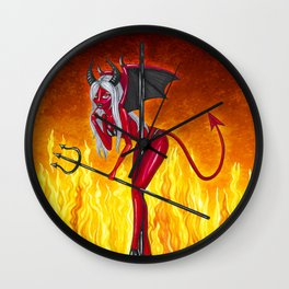 Poletober - Devil Wall Clock
