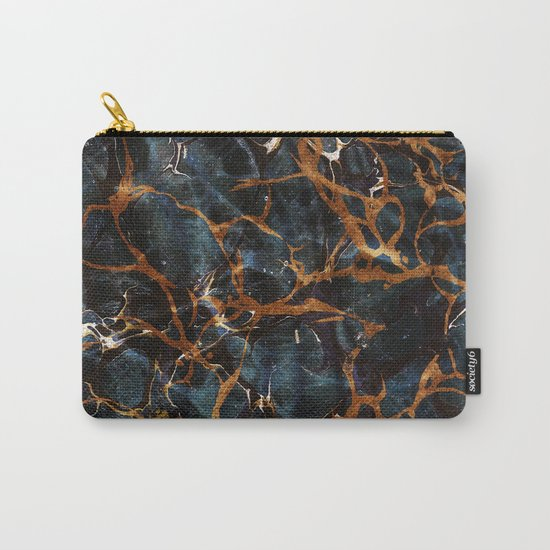 Ocean & Gold Marble #society6 #decor #buyart #lifestyle Carry-All Pouch