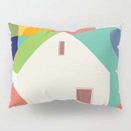 Green roof cottage Pillow Sham