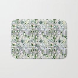 green_pattern Bath Mat