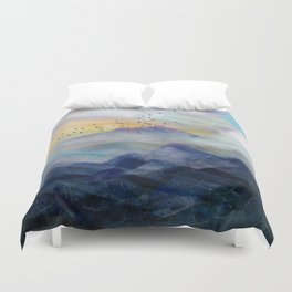 Mountain Sunrise Duvet Cover