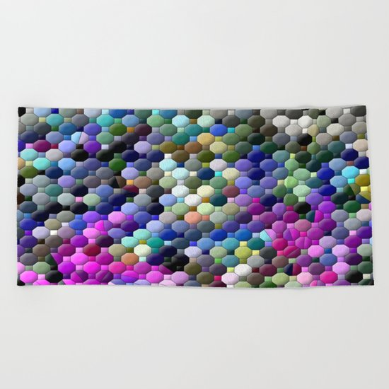 Partyin' with colors... Beach Towel