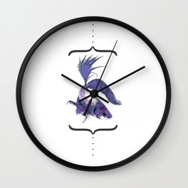 """betto"" to fish Wall Clock"