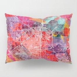 Lubbock map Texas painting 2 Pillow Sham