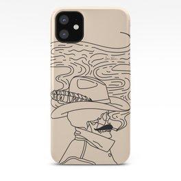 Love or Die Tryin' - Cowhand Black & Cream iPhone Case