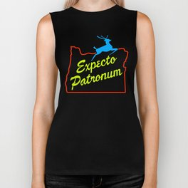 Expecto Patronum Neon Sign Biker Tank