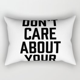 Facts Don't Care About Your Feelings Rectangular Pillow