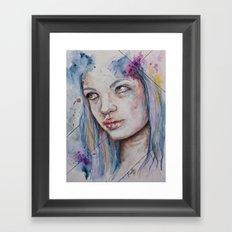 Blue Mermaid  Framed Art Print