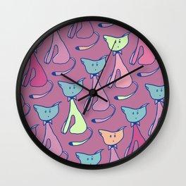 Cat Love 1 Wall Clock