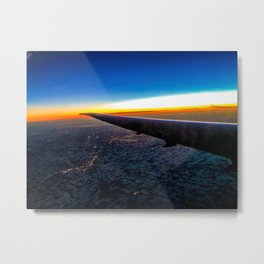 Sunset over the wing Metal Print