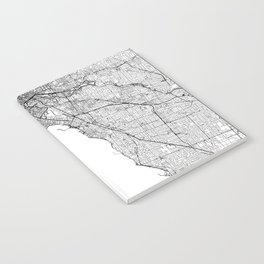 Melbourne White Map Notebook