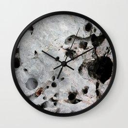 Stone is a hole Wall Clock