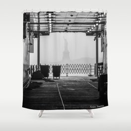 Liberty Through The Boat Shower Curtain