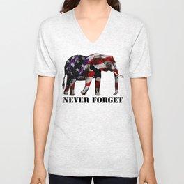 NEVER FORGET Unisex V-Neck