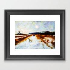 LANDSCAPE - Broadland walk Framed Art Print