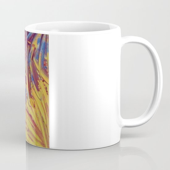 NIGHT FLOWERS 2 - Lovely Relaxing Modern Floral Abstract Acrylic Mauve Purple Plum Eggplant Painting Mug